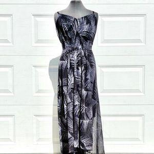 City Chic Palm Print Maxi Dress